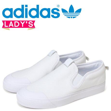 adidas Originals ニッツア アディダス オリジナルス レディース スリッポン スニーカー NIZZA SLIPON W ホワイト CQ3103 [5/21 新入荷]