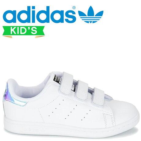 アディダス オリジナルス スタンスミス adidas Originals キッズ スニーカー STAN SMITH CF C AQ6273 ホワイト [予約商品 7/7頃入荷予定 新入荷]