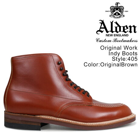 ALDEN オールデン インディー ブーツ ORIGINAL WORK INDY BOOTS Dワイズ 405 メンズ [予約商品 9/14頃入荷予定 再入荷]
