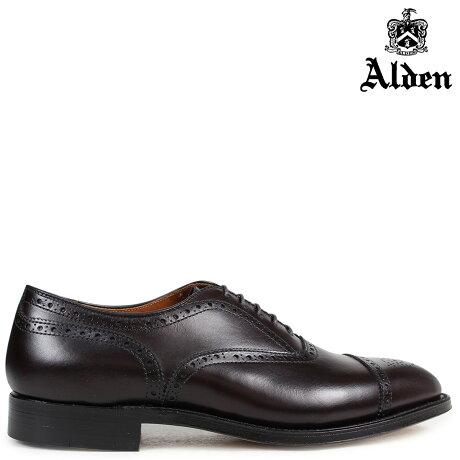 ALDEN オールデン オックスフォード シューズ メンズ MEDALLION TIP BAL OXFORD Dワイズ 908 [予約 2/26 追加入荷予定]