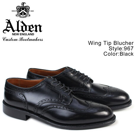ALDEN オールデン ウィングチップ シューズ メンズ WING TIP BLUCHER Dワイズ 967 [予約 2/26 追加入荷予定]