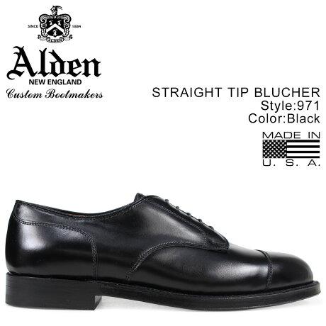 ALDEN オールデン シューズ メンズ STRAIGHT TIP BLUCHER Dワイズ 971 [予約 2/7 追加入荷予定]