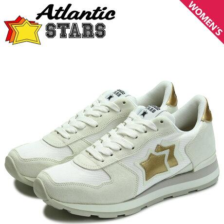 アトランティックスターズ レディース スニーカー Atlantic STARS ベガ VEGA BO-86B ホワイト [予約商品 7/13頃入荷予定 追加入荷]
