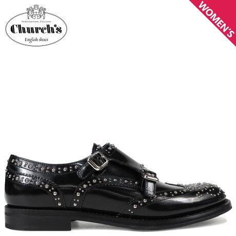 Church's 靴 チャーチ レディース ダブルモンク シューズ LANA MET スタッズ ブラック DO0002 [3/15 新入荷]