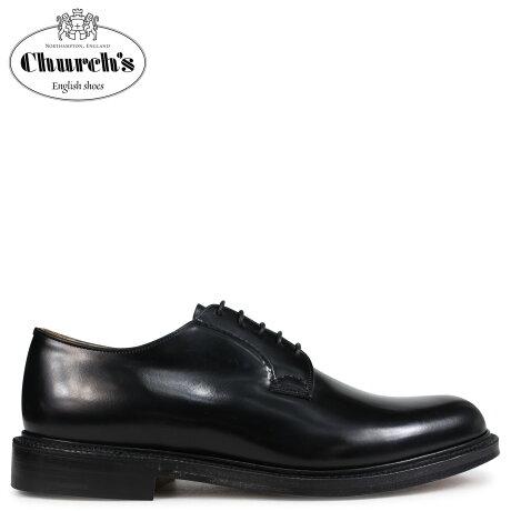 チャーチ Churchs 靴 シャノン プレーントゥ シューズ メンズ SHANNON POLISHED BINDER EEB001 ブラック [予約 2/26 追加入荷予定]