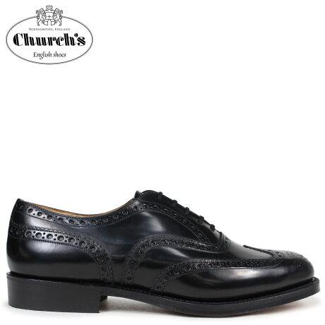 チャーチ 靴 Church's バーウッド ウイングチップ シューズ メンズ BURWOOD レザー ブラック EEB002 [予約商品 3/15頃入荷予定 追加入荷]