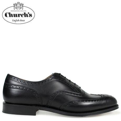 チャーチ 靴 Church's チェットウインド ウイングチップ シューズ メンズ CHETWYND レザー ブラック EEB007 [3/15 追加入荷]