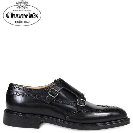 チャーチ 靴 Church's ダブルモンクストラップ シューズ メンズ MONKTON レザー ブラック EOB008 [予約商品 3/15頃入荷予定 追加入荷]