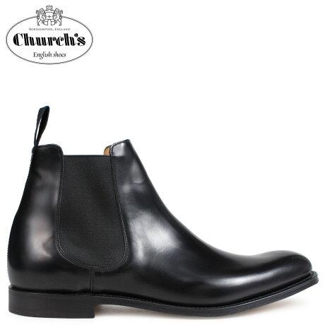 チャーチ Churchs 靴 ヒューストン ブーツ サイドゴア ショートブーツ メンズ HOUSTON CHELSEA BOOTS POLISHED BINDER ETB004 ブラック [予約 2/26 追加入荷予定]