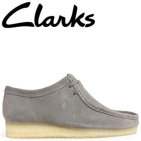 クラークス ワラビー ブーツ メンズ Clarks WALLABEE 26134752 グレー [予約商品 9/18頃入荷予定 新入荷]