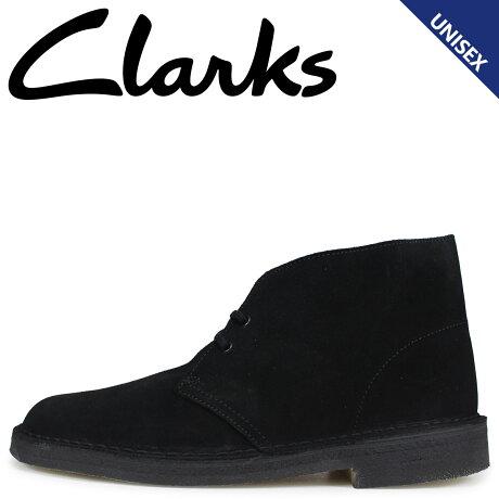 クラークス Clarks デザートブーツ メンズ レディース DESERT BOOT スエード ブラック 26138227 [1/21 追加入荷]