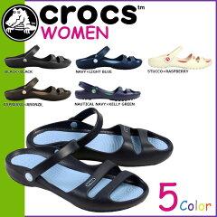 クロックス crocs レディース クレオ 2 サンダル CLEO 2 クロスライト フラットサンダル 11214 5カラー アウトドア [5/13 追加入荷][ 正規 あす楽 ]【SS】