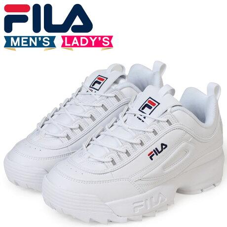 FILA フィラ ディスラプター2 スニーカー メンズ レディース DISRUPTOR 2 ホワイト FS1HTA1071X [予約商品 9/14頃入荷予定 追加入荷]]