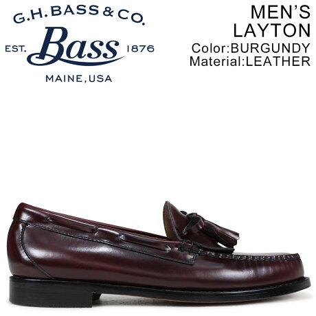 G.H. BASS ローファー ジーエイチバス メンズ LAYTON TASSEL LOAFER バーガンディー 70-10939 [7/4 新入荷]