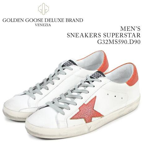Golden Goose ゴールデングース スニーカー メンズ スーパースター SNEAKERS SUPERSTAR ホワイト G32MS590 D90 [予約商品 3/15頃入荷予定 新入荷]