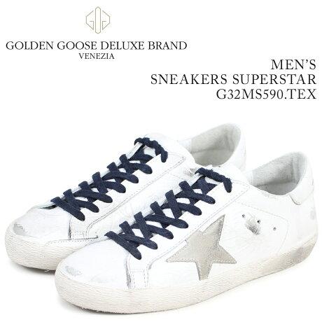Golden Goose ゴールデングース スニーカー メンズ スーパースター SNEAKERS SUPERSTAR ホワイト G32MS590 TEX [予約商品 3/15頃入荷予定 新入荷]