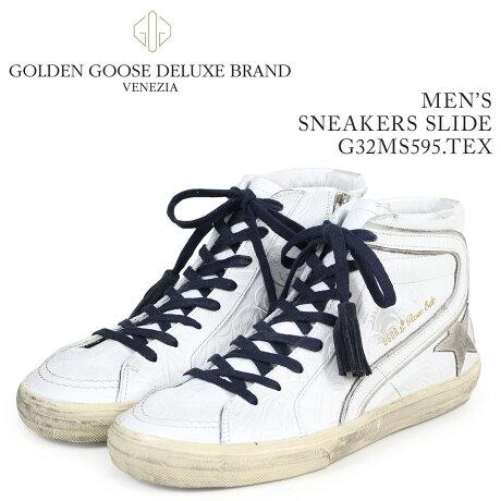 Golden Goose ゴールデングース スニーカー メンズ スライド SNEAKERS SLIDE ホワイト G32MS595 TEX [予約商品 3/15頃入荷予定 新入荷]