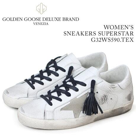 Golden Goose ゴールデングース スニーカー レディース スニーカーズ スーパースター SNEAKERS SUPERSTAR ホワイト G32WS590 TEX [5/19 新入荷]