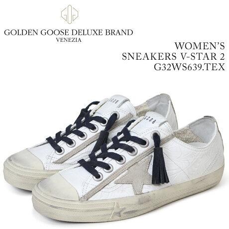 ゴールデングース Golden Goose スニーカー レディース スニーカーズ ブイスター SNEAKERS V-STAR 2 ホワイト G32WS639 TEX [5/19 新入荷]