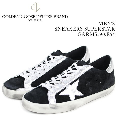 Golden Goose ゴールデングース スニーカー メンズ スーパースター SNEAKERS SUPERSTAR ブラック GARMS590 E54 [予約商品 3/15頃入荷予定 新入荷]