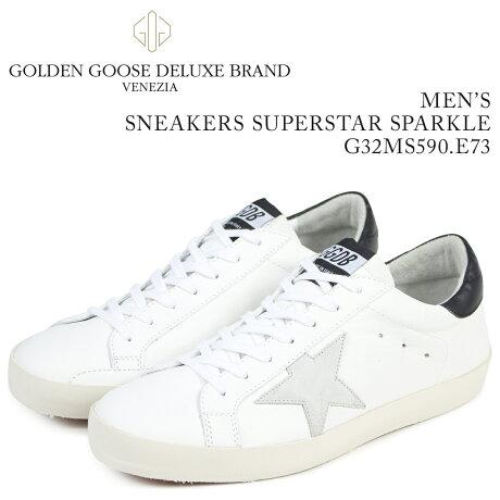 Golden Goose ゴールデングース スニーカー メンズ スーパースター SNEAKERS SUPERSTAR SPARKLE ホワイト G32MS590 E73 [予約商品 3/15頃入荷予定 新入荷]