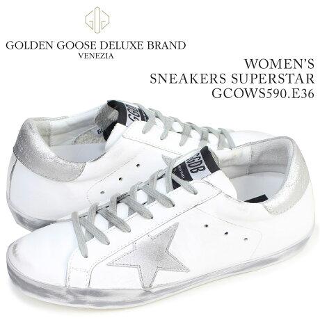 ゴールデングース Golden Goose スニーカー レディース スーパースター SNEAKERS SUPERSTAR イタリア製 GCOWS590 E36 靴 ホワイト [5/19 再入荷]