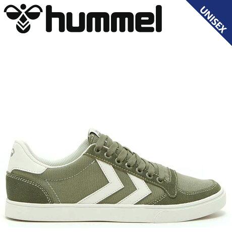 ヒュンメル hummel スリマー スタディール キャンバス ロー スニーカー メンズ SLIMMER STADIL CANVAS LOW グリーン HM205900-6027 [予約商品 10/15頃入荷予定 新入荷]