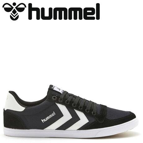 ヒュンメル hummel スリマー スタディール ロー キャンバス スニーカー メンズ SLIMMER STADIL LOW CANVAS ブラック 黒 HM63112K-2114 [予約商品 10/15頃入荷予定 新入荷]
