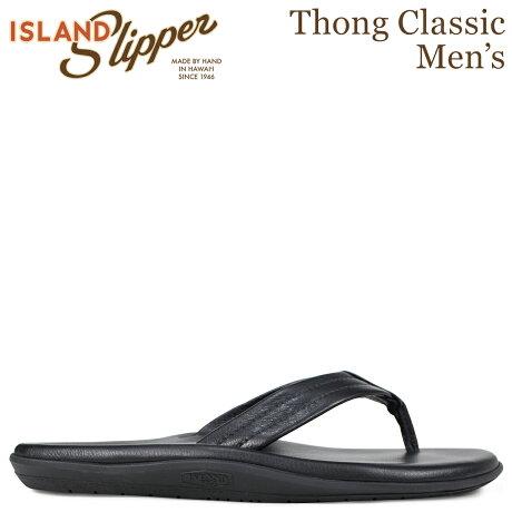アイランドスリッパ ISLAND SLIPPER メンズ クラシック サンダル トングサンダル レザー THONG CLASSIC ブラック PB202 [7/4 追加入荷]
