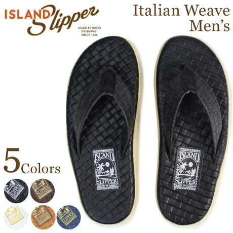 アイランドスリッパ ISLAND SLIPPER メンズ PT202SAS サンダル トングサンダル レザー メッシュ ビーチサンダル ITALIAN WEAVE 5カラー