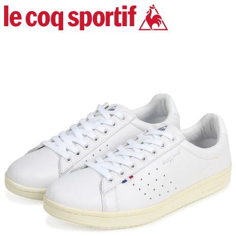ルコック スポルティフ le coq sportif メンズ スニーカー LA ローラン LE+ ROLAND ホワイト QL1LJC15WH [予約商品 7/12頃入荷予定 追加入荷]
