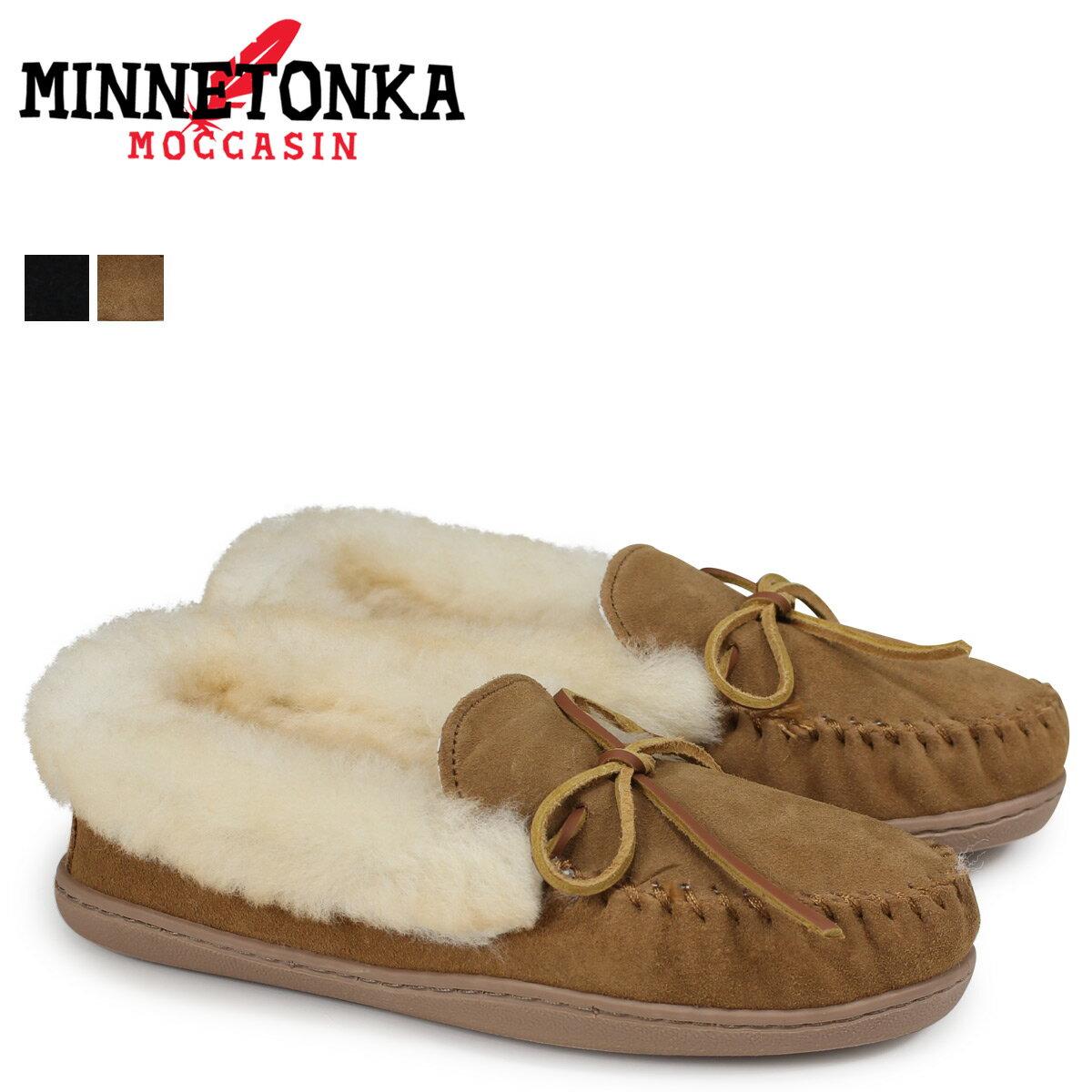 レディース靴, モカシン 1000OFF MINNETONKA ALPINE SHEEPSKIN MOC