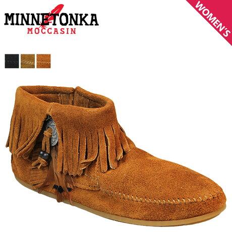 ミネトンカ MINNETONKA ブーツ ブーティー レディース コンチョ フェザー サイドジップ CONCHO FEATHER SIDE ZIP BOOT