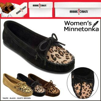 «Reservation products» «around the 10 / 23 stock» Minnetonka MINNETONKA Leopard Kirti moccasin LEOPARD KILTY MOC suede women's suede