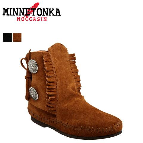 ミネトンカ MINNETONKA 2ボタン ブーツ TWO BUTTON BOOT HARDSOLE レディース