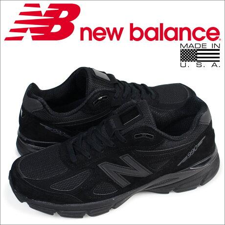 ニューバランス 990 メンズ new balance スニーカー M990BB4 Dワイズ MADE IN USA 靴 ブラック [予約商品 5/26頃入荷予定 再入荷]