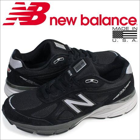 ニューバランス 990 メンズ new balance スニーカー M990BK4 Dワイズ MADE IN USA 靴 ブラック [予約商品 5/26頃入荷予定 再入荷]