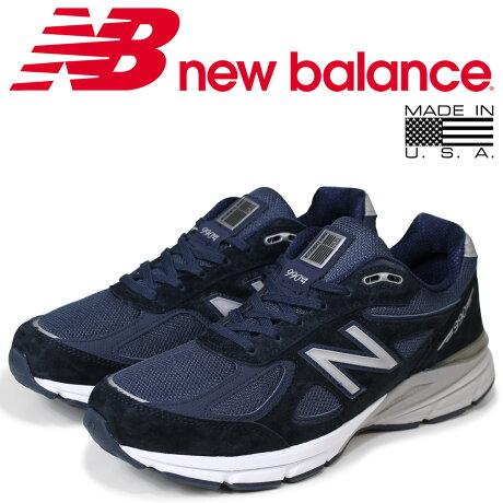ニューバランス 990 メンズ new balance スニーカー M990NV4 Dワイズ 靴 ネイビー MADE IN USA [5/26 再入荷]