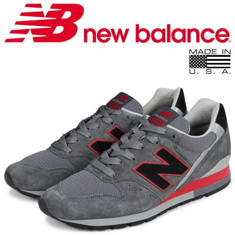 ニューバランス 996 メンズ new balance スニーカー M996BSN Dワイズ MADE IN USA グレー [6/16 新入荷]