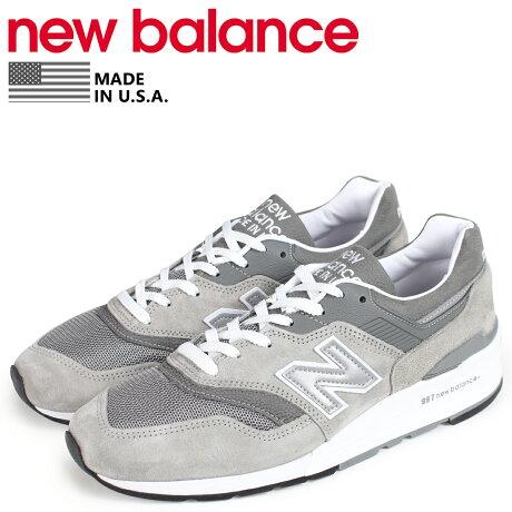 ニューバランス 997 メンズ new balance スニーカー M997GY2 Dワイズ MADE IN USA グレー [予約商品 10/19頃入荷予定 新入荷]