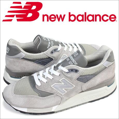ニューバランス new balance スニーカー M998 GY MADE IN USA Dワイズ メンズ 靴 グレー [予約商品 5/26頃入荷予定 追加入荷]
