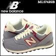 ニューバランス new balance 574 スニーカー ML574RUB Dワイズ メンズ 靴 グレー