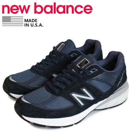ニューバランス new balance 990 スニーカー メンズ Dワイズ MADE IN USA ネイビー M990NV5 [予約 1/28 追加入荷予定]