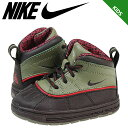 NIKE ナイキ スニーカー ブーツ ベビー キッズ WOODSIDE 2 TD 524874-236 靴 ブラック カーキ [9000足] [S50][返品不可]