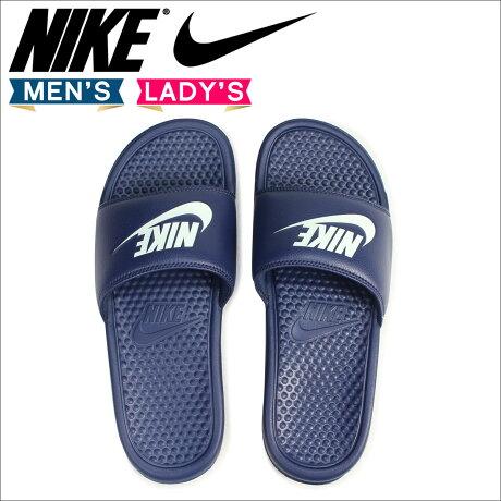 ナイキ NIKE サンダル べナッシ シャワーサンダル スポーツ BENASSI JUST DO IT 343880-403 メンズ レディース 靴 ネイビー