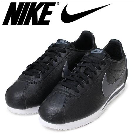 ナイキ NIKE コルテッツ スニーカー CLASSIC CORTEZ LEATHER 749571-011 メンズ 靴 ブラック [予約商品 6/15頃入荷予定 再入荷]