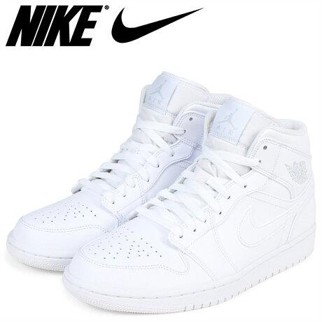 ナイキ NIKE エアジョーダン1 スニーカー AIR JORDAN 1 MID 554724-104 メンズ 靴 ホワイト [6/16 追加入荷]