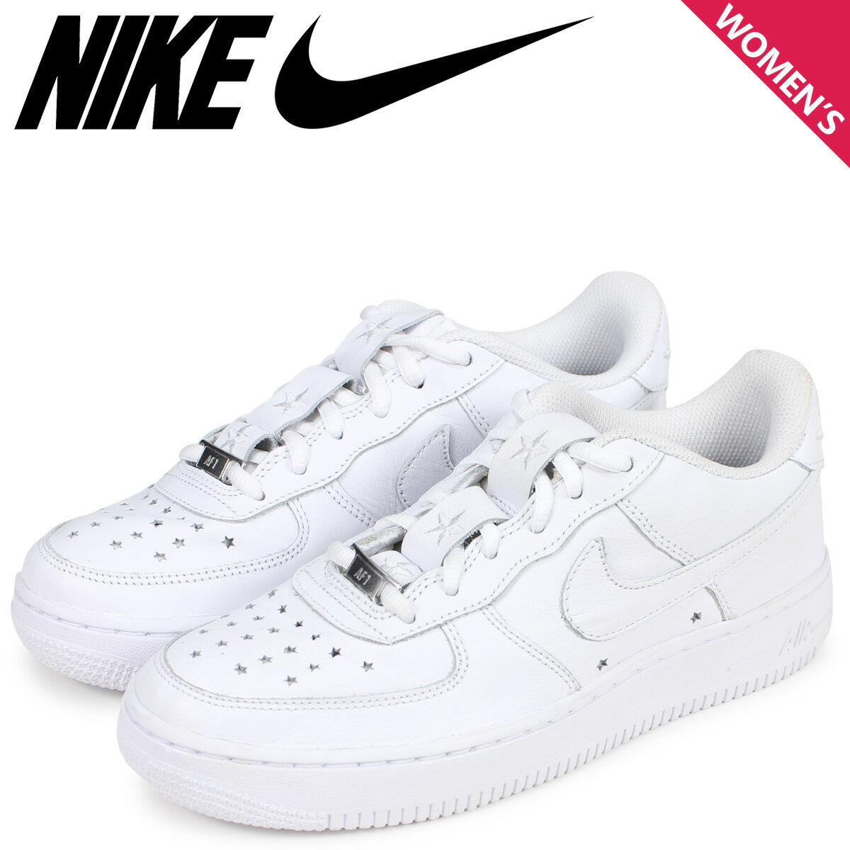 NIKE ナイキ エアフォース1 スニーカー レディース AIR FORCE 1 LOW GS INDEPENDENCE DAY PACK ホワイト 白 AR0688-100画像
