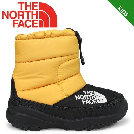 THE NORTH FACE NUPTSE BOOTIE V ノースフェイス キッズ ヌプシブーティ ブーツ イエロー NFJ51881 [9/21 新入荷] [1810]