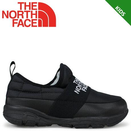 THE NORTH FACE K NUPTSE TRACTION LITE MOC ノースフェイス キッズ ヌプシ シューズ スリッポン ブラック NFJ51889 [9/21 新入荷] [1810]